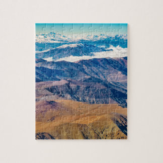 Andes Mountains Aerial View, Chile Jigsaw Puzzle