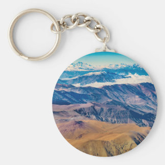 Andes Mountains Aerial View, Chile Keychain
