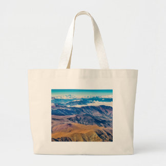 Andes Mountains Aerial View, Chile Large Tote Bag