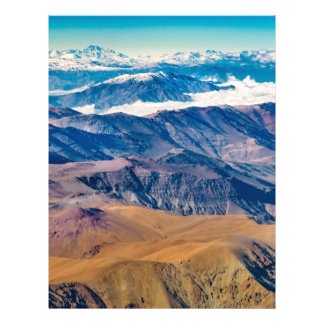 Andes Mountains Aerial View, Chile Letterhead