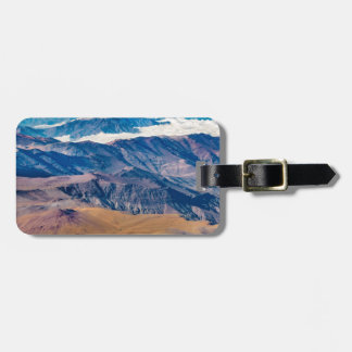 Andes Mountains Aerial View, Chile Luggage Tag