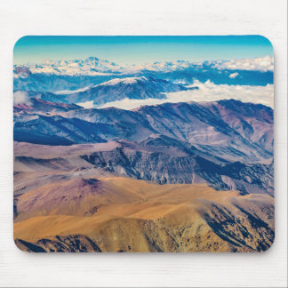 Andes Mountains Aerial View, Chile Mouse Pad