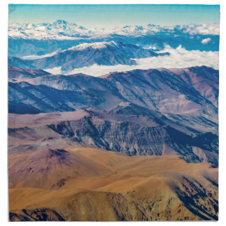 Andes Mountains Aerial View, Chile Napkin