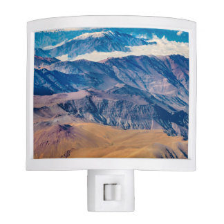 Andes Mountains Aerial View, Chile Night Lite