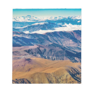 Andes Mountains Aerial View, Chile Notepad