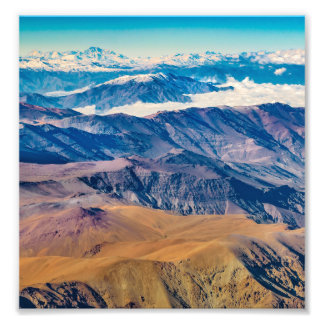 Andes Mountains Aerial View, Chile Photo Print