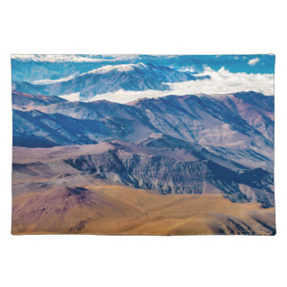 Andes Mountains Aerial View, Chile Placemat