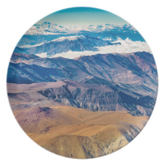 Andes Mountains Aerial View, Chile Plate