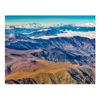 Andes Mountains Aerial View, Chile Postcard