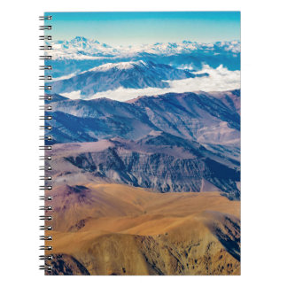 Andes Mountains Aerial View, Chile Spiral Notebook