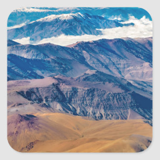 Andes Mountains Aerial View, Chile Square Sticker