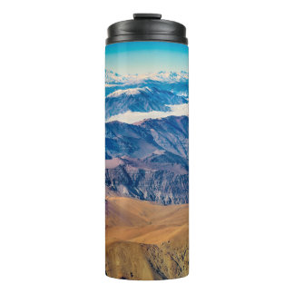 Andes Mountains Aerial View, Chile Thermal Tumbler