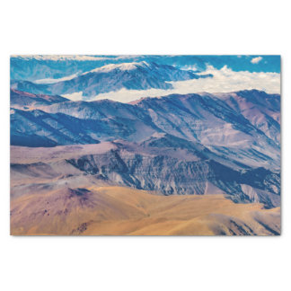 Andes Mountains Aerial View, Chile Tissue Paper