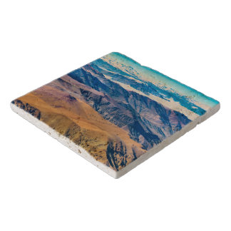 Andes Mountains Aerial View, Chile Trivet