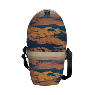 Andes Mountains Desert Aerial Landscape Scene Courier Bags