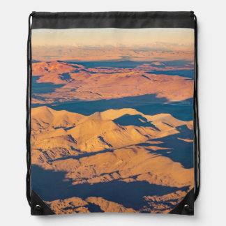 Andes Mountains Desert Aerial Landscape Scene Drawstring Bag