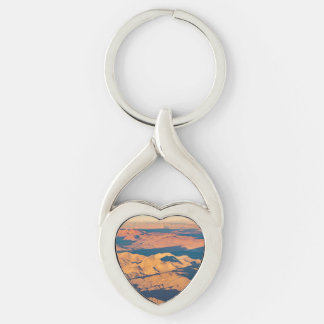 Andes Mountains Desert Aerial Landscape Scene Keychain