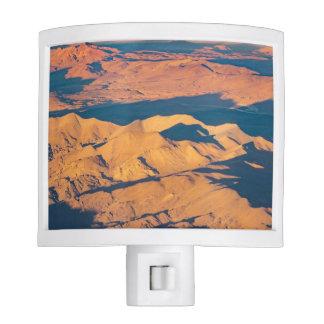 Andes Mountains Desert Aerial Landscape Scene Night Lights