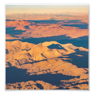 Andes Mountains Desert Aerial Landscape Scene Photo Print