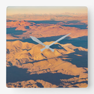 Andes Mountains Desert Aerial Landscape Scene Square Wall Clock