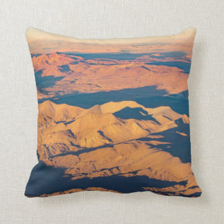 Andes Mountains Desert Aerial Landscape Scene Throw Pillow