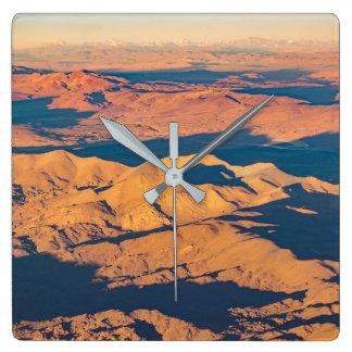Andes Mountains Desert Aerial Landscape Scene Wallclock