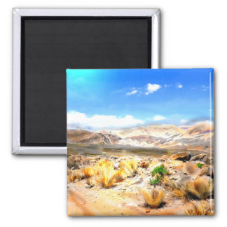 Andes Mountains Peru #3 Square Magnet