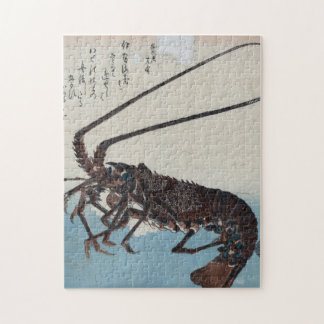 Ando Hiroshige - Shrimp And Lobster Jigsaw Puzzle