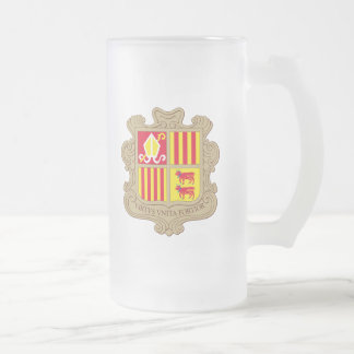 andorra arms 16 oz frosted glass beer mug