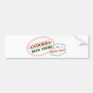 Andorra Been There Done That Bumper Sticker