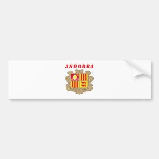 ANDORRA Coat Of Arms Bumper Sticker