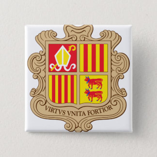 Andorra Coat of Arms detail 2 Inch Square Button