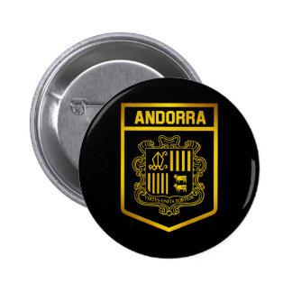 Andorra Emblem 2 Inch Round Button