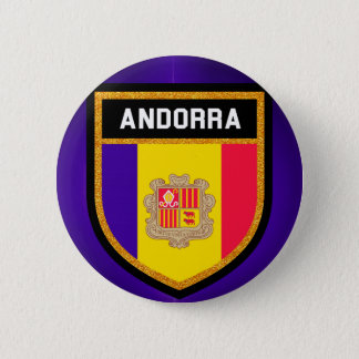 Andorra Flag 2 Inch Round Button