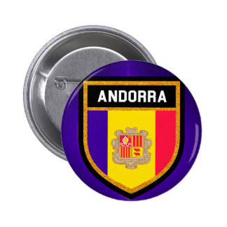 Andorra Flag 2 Inch Round Button