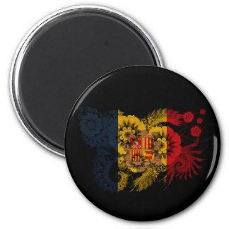 Andorra Flag 2 Inch Round Magnet
