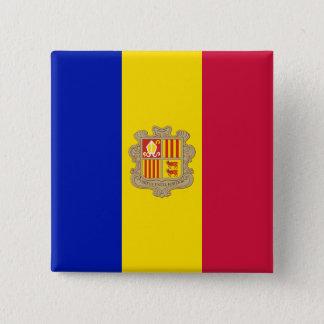 Andorra Flag 2 Inch Square Button