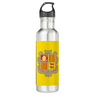 Andorra Flag 710 Ml Water Bottle