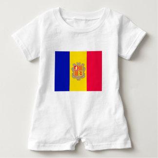 Andorra Flag Baby Romper