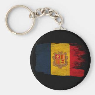 Andorra Flag Basic Round Button Keychain