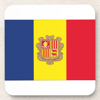 Andorra Flag Beverage Coaster