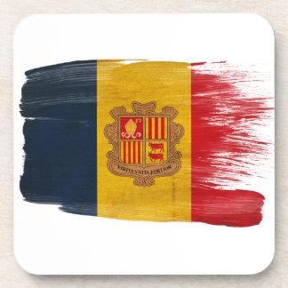 Andorra Flag Beverage Coasters