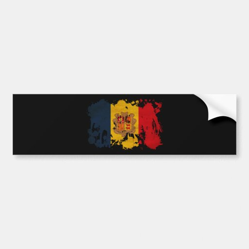 Andorra Flag Bumper Stickers