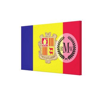 Andorra Flag Canvas Print