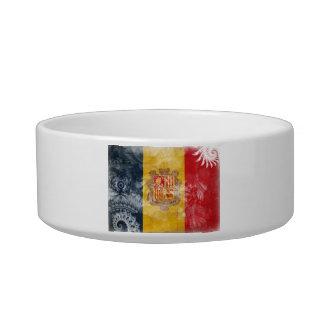 Andorra Flag Cat Water Bowl