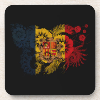 Andorra Flag Drink Coasters