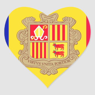 Andorra Flag Heart Sticker