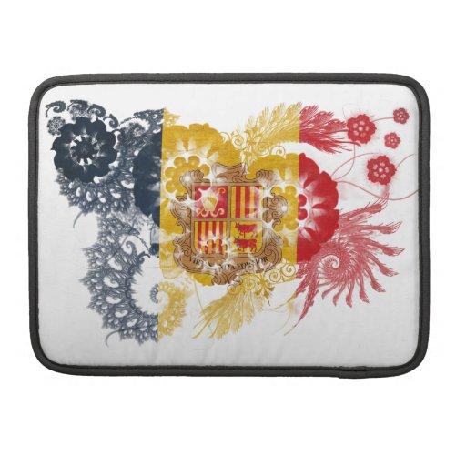 Andorra Flag Sleeves For MacBooks