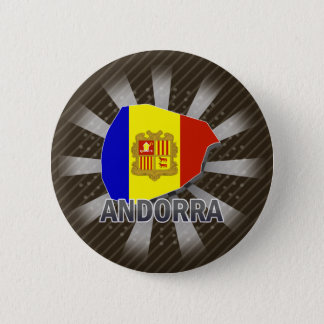 Andorra Flag Map 2.0 2 Inch Round Button