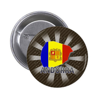 Andorra Flag Map 2.0 2 Inch Round Button